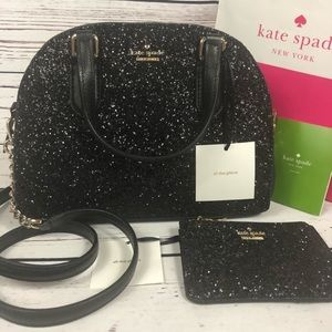 Kate Spade Mini Reiley glitter bag/purse